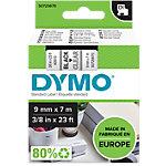 Étiquettes DYMO d1 40910 noir sur transparent 9 mm x 7 m