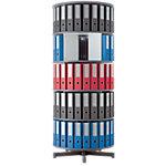 Colonnes Rotatives Moll Depotfile® 5 Niveaux 120 classeurs Gris 80 x 192 x 192 cm