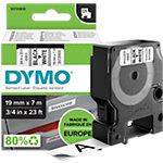 Étiquettes Dymo D1 Noir sur Blanc 19 mm x 7 m