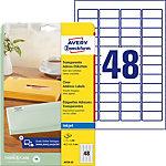 Étiquettes d'adresse jet d'encre Avery QuickPEEL™ Transparent 45,7 x 21,2 mm 25 Feuilles