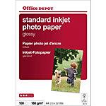 Papier photo jet d'encre Office Depot Blanc Brillant 180 g