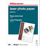Papier photo laser Office Depot Blanc Brillant 210 g