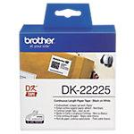 Rouleau d'étiquettes Brother DK22225 38 mm x 30.5 m blanc
