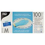Gants jetables PAPSTAR Latex Taille M Bleu 100 Unités