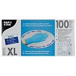 Gants jetables PAPSTAR Latex Taille XL Bleu 100 Unités
