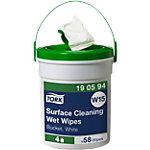 Lingettes de nettoyage de surfaces Tork Seau de distribution Tissu Blanc 58 Unités