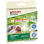Surligneur recyclé edding EcoLine 24 Pointe biseautée Assortiment de couleurs 4 Unités