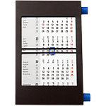 Calendrier de bureau trimestriel Simplex Simply Noir 11 x 18 cm