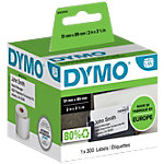 Étiquettes badge non collantes DYMO 89  x 51 mm 250 Unités