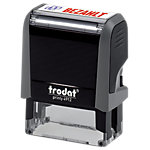 Tampon texte Trodat Office Printy Bezahlt 47 mm Noir