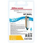 Cartouche jet d'encre Office Depot Compatible HP 364XL Cyan CB323EE