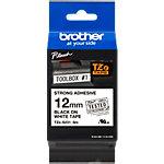 Ruban d'étiquettes Brother TZES231 noir sur blanc 12 mm x 8 m