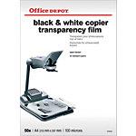 Transparents pour imprimante laser mono Office Depot 100 Microns A4 210 x 297 mm 50 Unités