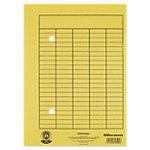 Enveloppes Office Depot Circulation A4 Jaune Papier Manila 2 trous et impression frontale 220 x 318 mm 100 Unités