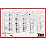 Calendrier grand format horizontal  Biella  23.5 x 15.5 cm