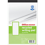 Blocs de correspondance recyclés Office Depot Blanc Quadrillé 5 x 5 mm A5+ 70 g