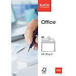 Enveloppes Elco Blanc Sans Fenêtre Bande adhésive 80 g