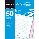 Blocs autocopiants Elco Factures A6   2 x 50 Feuilles