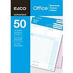 Blocs autocopiants Elco Factures A5   2 x 50 Feuilles