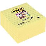 Notes adhésives Post it Super Sticky jaune 101 x 101 mm 5 unités de 90 feuilles 5 unités de 90 feuilles