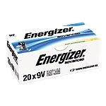 Piles alcalines Energizer Advanced 9V 9V 20