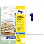 Étiquettes d'adresse jet d'encre Avery QuickPEEL™ Transparent 210 x 297 mm A4 25 Feuilles 25 Unités