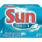 Tablettes pour lave vaisselle Sun All in 1 Double Action 27 Unités