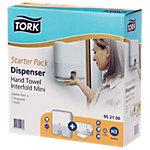 Distributeur d'essuie mains Tork Set de démarrage Synthétique Blanc 30,2 x 10,1 x 29,5 cm