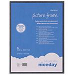 Cadres aluminium Niceday Noir 30 x 40 cm 2 Unités