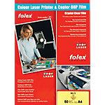 Films transparents pour impressions laser couleur Folex BG72 A4 210 x 297 mm 50 Unités