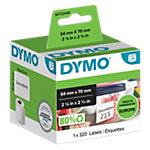 Étiquettes disquettes DYMO 99015 70 x 54 mm blanc 320 unités