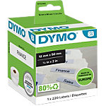 Étiquettes dossiers suspendus DYMO LW99017 50 x 12 mm blanc 220 unités