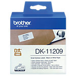 Ruban d'étiquettes d'adresses Brother DK 11209 62 x 29 mm blanc 800 unités