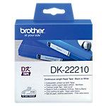 Rouleau d'étiquettes Brother DK22210 29 mm x 30.5 m blanc