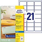 Étiquettes d'adresse jet d'encre AVERY Zweckform QuickPEEL™ Transparent 63,5 x 38,1 mm 25 Feuilles