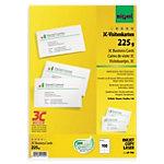 Cartes de visite Sigel 3C blanc lisse 225 g