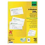 Cartes de visite pour PC Sigel 3C blanc lisse 250 g
