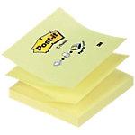 Z notes adhésives Post it R330 jaune 76 x 76 mm 100 feuilles 100 feuilles