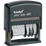 Tampon multiformules Trodat Printy 4817 1 Ligne Faxé le, par e mail, reçu le, répondu le, saisi le, retourné le, vérifié le, payé le, confirmé le, facturé le, expédié le, comptabilisé le 47 x 3.8 mm Noir