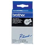 Ruban d'étiquettes Brother TC291 noir sur blanc 9 mm x 7.7 m