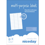 Etiquettes multifonctions blanches Niceday 3300 / Paquet