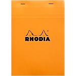 Bloc de bureau   Rhodia   A5   148 x 210 mm   petits carreaux   blanc