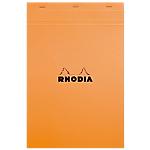 Bloc de bureau   Rhodia   A4   210 x 297 mm   petits carreaux   blanc