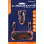 Chargeur 2 Ports + câble USB