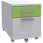 Caisson de tiroirs Adjust 41,4 (L) x 52,9 (P) x 56 (H) cm Blanc, Vert