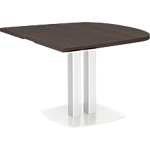 Table demi ovale Gautier Office Xenon 102 x 115 cm Imitation Chêne