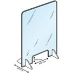 Panneau de protection Plexiglas 70 x 95 cm