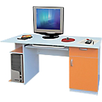 Station de travail Artexport Colorpoint 140 (L) x 57 (P) x 75 (H) cm Blanc, orange