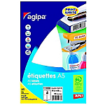 Étiquettes Rectangle AGIPA 97 (H) mm Blanc   64