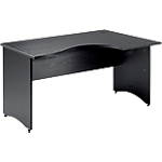 Bureau compact MT International Syracuse 160 (L) x 100 (P) x 76 (H) cm Imitation Frêne noir